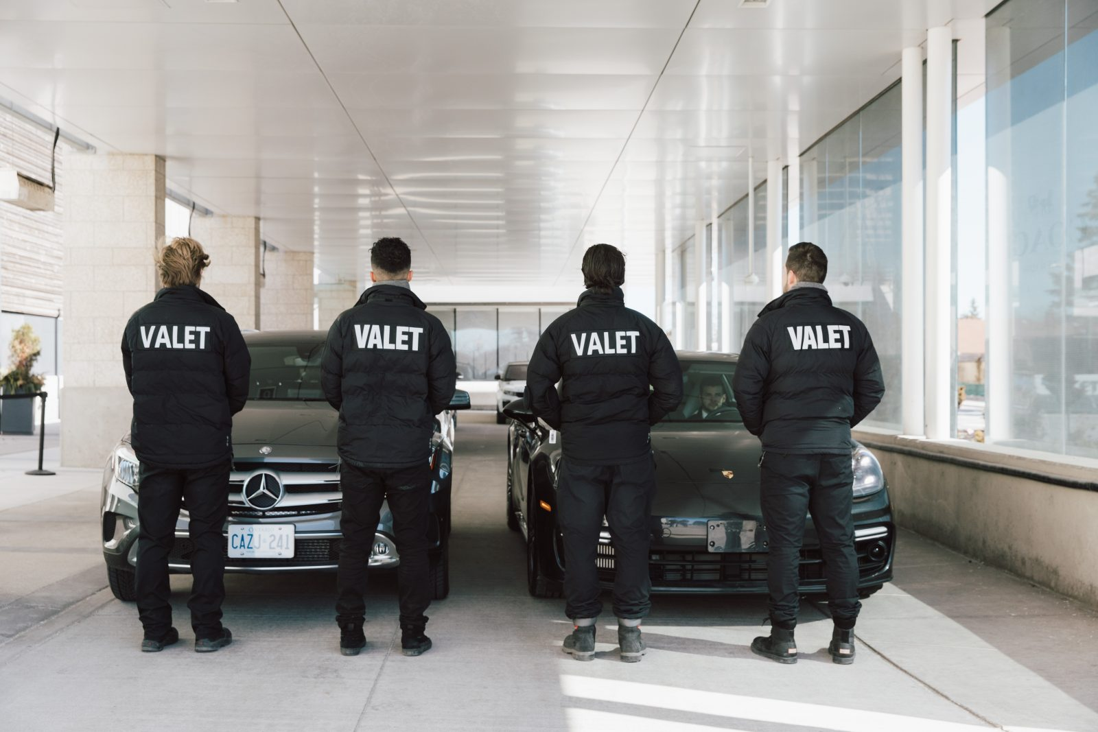Valet parking chauffeur waiting to serve you better