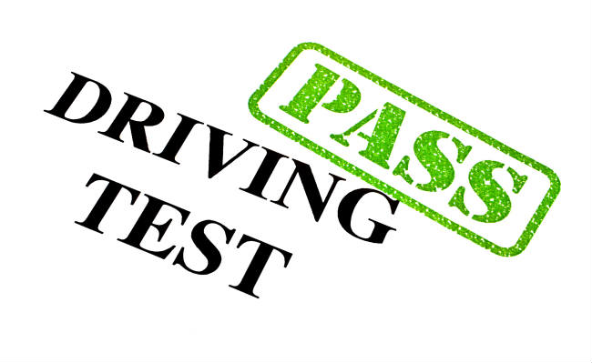 Driving test pass sign